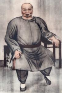 Dong Haichuan - ritratto. L'unica immagine di Dong Haichuan mai dipinta, in possesso della famiglia del Maestro Li Ziming